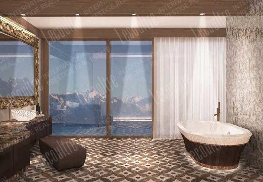 villa contemporaine suisse salle de bain