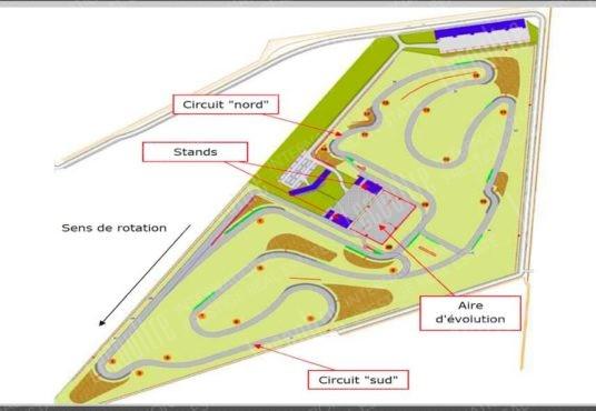 Circuit Paris à 45 mn bâtiment piste dessin